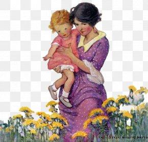 Mother Child - Good Housekeeping Illustrator Magazine Little Women PNG