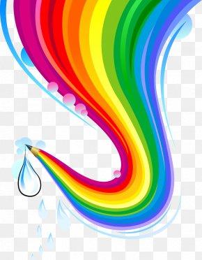 Rainbow Pen - Rainbow Euclidean Vector PNG