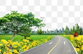 Lawn On The Road - Road Pixel Download PNG