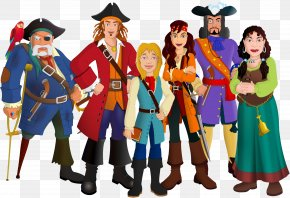 Cartoon Pirates - Piracy Illustrator Clip Art PNG