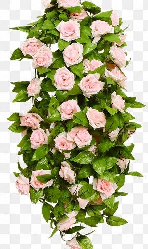 Pink Rose Wedding Flower Vine Wreath - Artificial Flower Garland Rose Wedding PNG