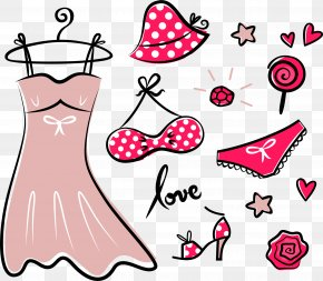 Painted Summer Women Dress Vector Material - Fashion Accessory Royalty-free Clothing Clip Art PNG