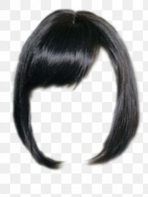 Lock Of Hair - Wig Black Hair Capelli Hairstyle PNG
