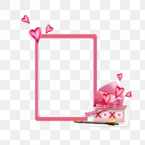 Pink Frame - Pink Heart PNG