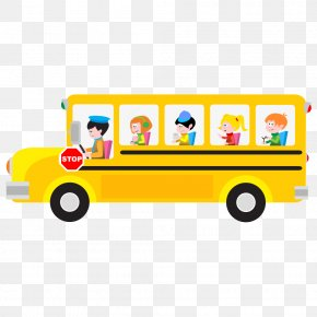 School Bus - School Bus Cartoon Clip Art PNG