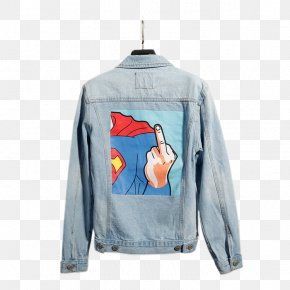 Light Blue Denim Jacket - Denim T-shirt Jacket Blue PNG
