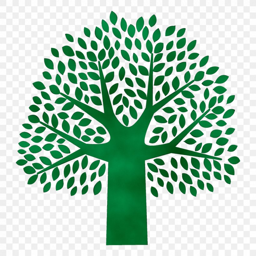 Green Leaf Tree Plant Symbol, PNG, 1200x1200px, Watercolor, Green, Leaf, Logo, Paint Download Free