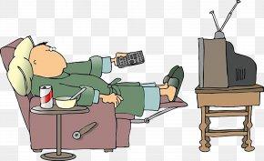 Lie Watching TV - Television Cartoon Clip Art PNG