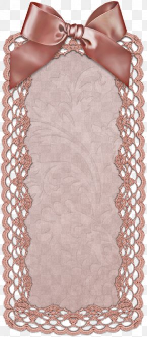 Pink Ribbon Bow Lace Border Promotional Card - Pink Ribbon Pink Ribbon Lace PNG
