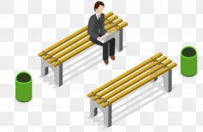 A Man Sitting On A Bench - Bench Computer File PNG