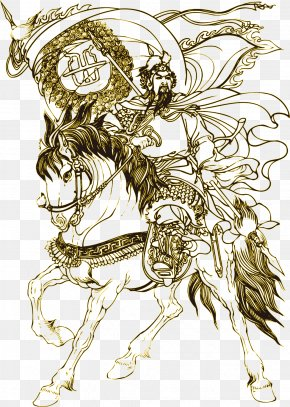 Chinese Ancient Hero Yue Fei Riding - History Of China U6ee1u6c5fu7ea2 Spring And Autumn Period Hero PNG