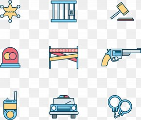 Cartoon Police Cute Icon - Police Officer Police Car Icon PNG