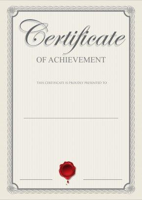 Certificate Clip Art Image - Academic Certificate Template Clip Art PNG