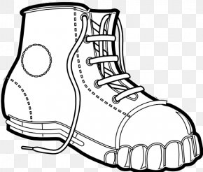 Black And White Line Art - Clothing Black And White Boot Clip Art PNG