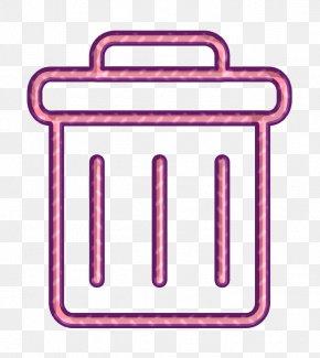 Pink Wastebin Icon - Delete Icon Trash Icon Trash Can Icon PNG