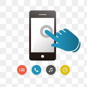 Flat Phone Smartphone - Smartphone Touchscreen Mobile Device Mobile App PNG