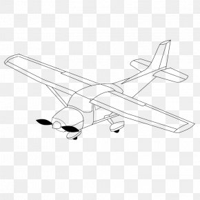 Black And White Airplane Pictures - Airplane Drawing Black And White Clip Art PNG