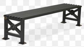Decorative Elements Of Urban Roads - Bench Galvanization Steel Metal Banc Public PNG