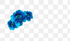 Blue Flower - Blue Flower Crown Wreath Aqua PNG