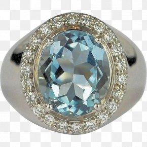 Aquamarine Diamond Ring - Ring Sapphire Body Jewellery Diamond PNG