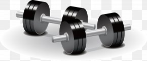 Black Iron Dumbbell Elements - Dumbbell Weight Training Olympic Weightlifting Physical Exercise PNG