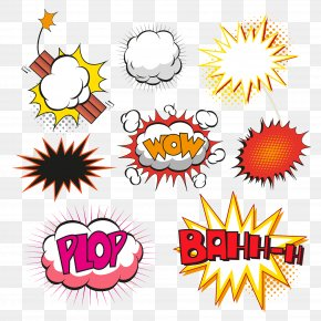 Explosive Material Vector - Comics Speech Balloon Comic Book Illustration PNG