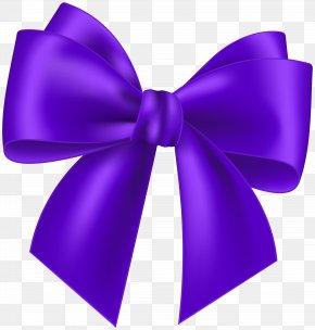 Purple Bow Transparent Clip Art Image - Pink Clip Art PNG