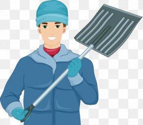 A Man With A Shovel - Snow Shovel Royalty-free Clip Art PNG