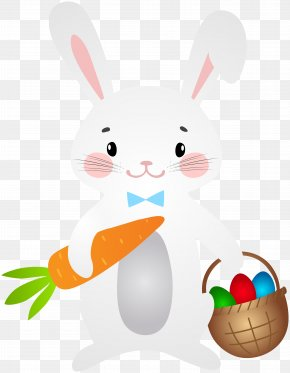 Easter Bunny - Easter Bunny Hare Domestic Rabbit Clip Art PNG