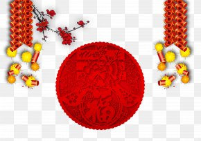 Chinese New Year Firecrackers - Chinese New Year Firecracker Lunar New Year PNG