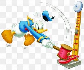 Donald Duck - Donald Duck Mickey Mouse Hammer High Striker Clip Art PNG