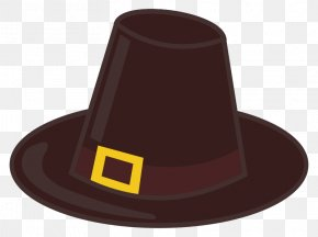Brown Hat Cliparts - Fedora Pilgrims Hat Clip Art PNG