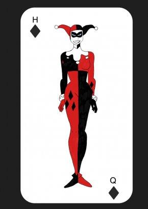 Joker - Harley Quinn Joker Batman Playing Card PNG