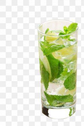 Spring Summer Romantic Aesthetic Restaurant Bar Iced Tea With Lemon Mint Leaf Juice - Juice Long Island Iced Tea Lemonade PNG