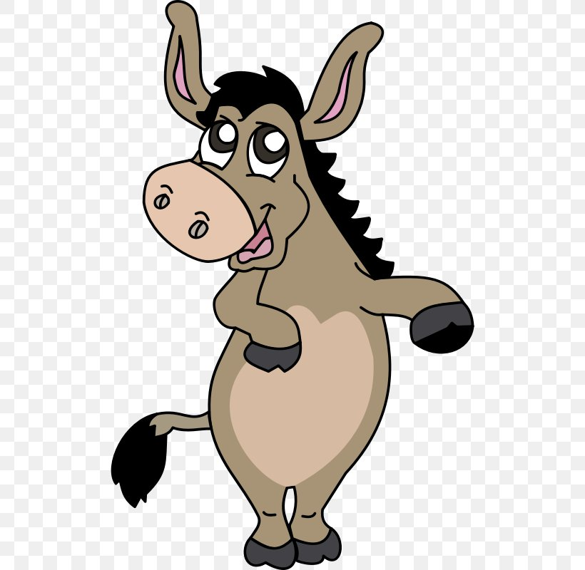 Donkey Royalty-free Clip Art, PNG, 510x800px, Donkey, Cartoon, Cattle Like Mammal, Cow Goat Family, Fictional Character Download Free