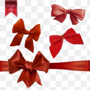 Red Bow Tie Vector Material - Gift Bow Tie Necktie Euclidean Vector PNG