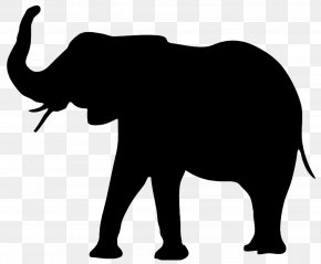 Elephant - Silhouette Animal Clip Art PNG