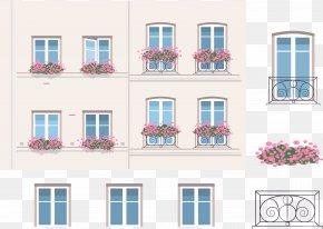 Vector Flower Balcony - Balcony Euclidean Vector Facade Icon PNG