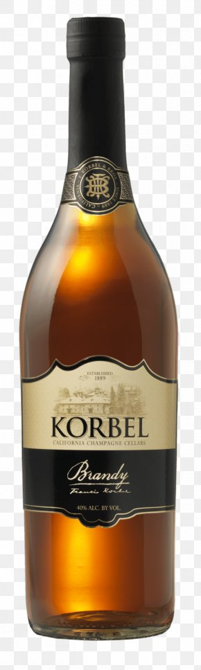 Brandy Bottle Image - Korbel Champagne Cellars Brandy Distilled Beverage Wine Cognac PNG