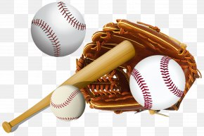 Baseball - Baseball Glove Baseball Bat Batting Glove PNG