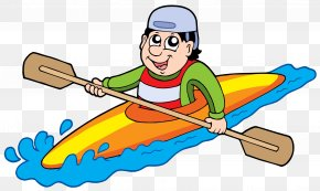 People Rowing In The River - Kayak Canoe Clip Art PNG