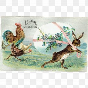 Easter - Rooster Easter Hare Fauna PNG