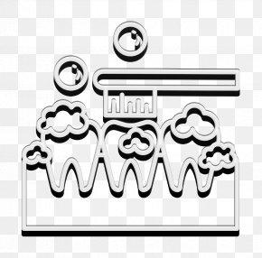 Art Blackandwhite - Toothbrush Cartoon PNG