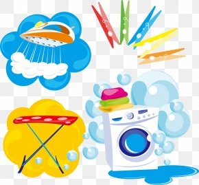 Vector Bubble And Washing Machine - Washing Machine Laundry Clothes Iron Clothing PNG