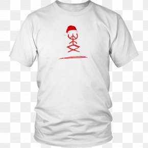 White T-shirt - T-shirt Hoodie Neckline Clothing PNG