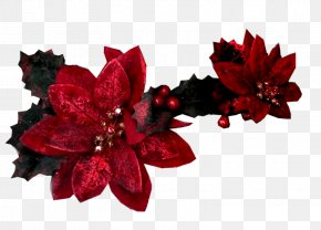 Red Fake Flower Jewelry - Artificial Flower Red Cut Flowers PNG