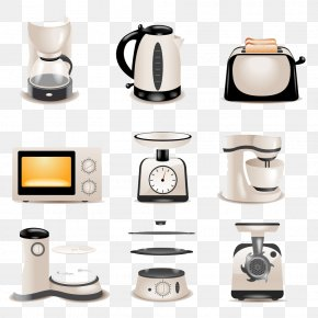 Kitchen Appliances - Home Appliance Kitchen Small Appliance Refrigerator PNG