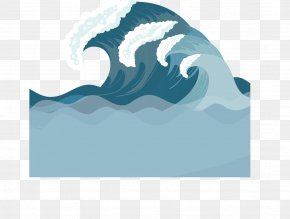 Vector Blue Wave - Light Wind Wave Euclidean Vector Wave Vector PNG