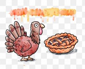 Thanksgiving Food Vector - Turkey Thanksgiving Illustration PNG