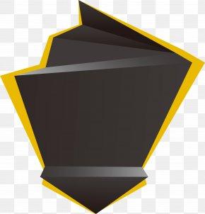 Creative Custom Yellow And Black Geometric Shapes - Geometric Shape Geometry PNG